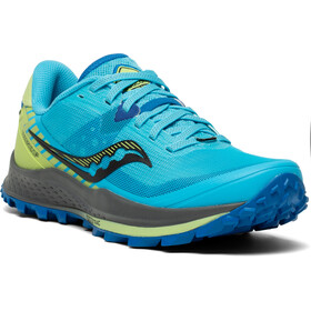 saucony Peregrine 11 Shoes Women, azul/amarillo